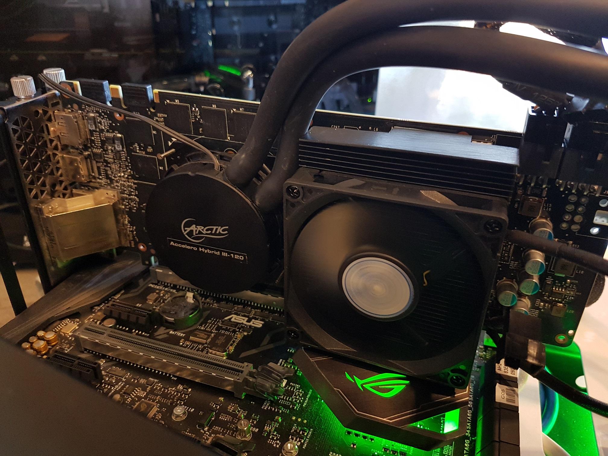 An Arctic Accelero Hybrid III 120 for our Nvidia GTX 980 Ti